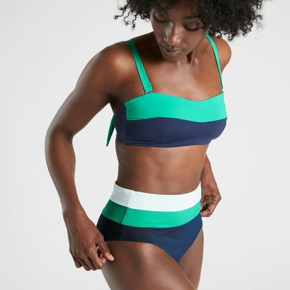 Athleta Other - Athleta Chroma Bandeau Bikini Top High W Bottom